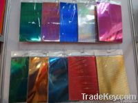 metallic card paper