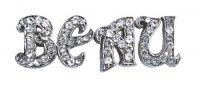 Rhinestone slider charms for pet collars