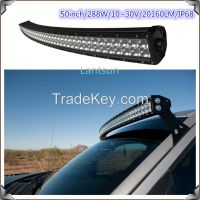 "Factory price 50"" 288W off road high power led light bars"