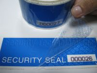 Serial Number Security Tapes