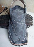 Balaaj in Charcoal Chawat � Balochi Sandals