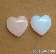 highly polished gemstone hearts
