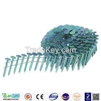 pallet helical coil nail 2.5mm/wire coil nails pallet coil nails/plastic collated coil nails