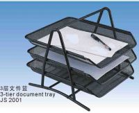 3-tire document tray