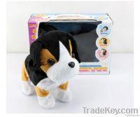 The cute plush puppy in sound control