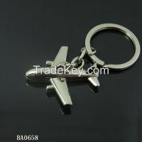 air plane shape metal key chain