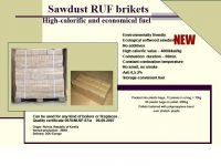 sawdust RUF brikets