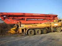 used Putzmeister concrete pump car on New Genration truck