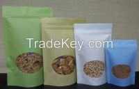 Stand up Ziplock Rice Paper Bag with Window