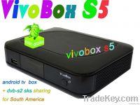 digital satellite receiver ViVobox S5 dvb-s2 sks receivr with android