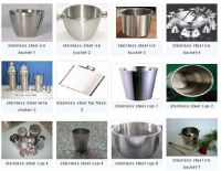 stainless steel cup, bucket, shaker, flask