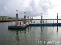 Floating pontoon system