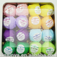 white and orange color 90g 120g handmade natural raw materail OEM factory bath bomb bath fizzer