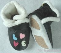 Leather Baby Booties