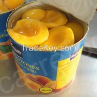 Canned peach halves in syrup yellow peaches sliced peach halves dice