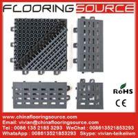 Outdoor Brush Dust Control Scraper Floor Mat Interlocking Tile