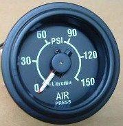 Utrema Auto Dual Needle Air Pressure Gauge 150psi