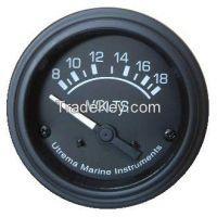 Utrema Black Marine Voltmeter Gauge