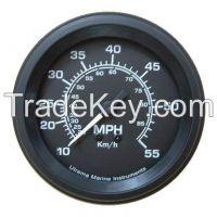 Utrema Black Marine Mechanical Speedometer