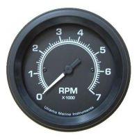 Utrema Black Marine Tachometer