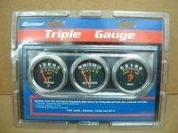 Triple Gauge Kit, oil press/water temp/ammeter 2-1/16 in.