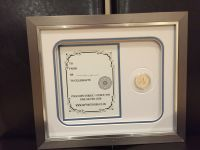 Silver Britannia 1 ounce framed coin set