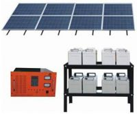 Solar system(Panel, Inverter, Controller, Battery, Street lights, etc)