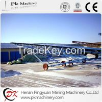 mobile belt conveyor for bag material, bulk material