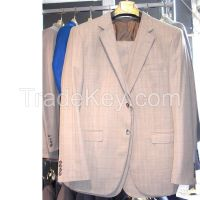 MENS STRIPES SUIT TWO BUTTON SLIM FIT DRESS WEDDING SUIT WHOLESALE DROPSHIPPING #K03