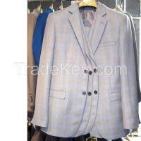 MENS STRIPES SUIT TWO BUTTON SLIM FIT DRESS WEDDING SUIT WHOLESALE DROPSHIPPING #K01