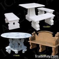 Garden marble bench, garden stone table, stone bench