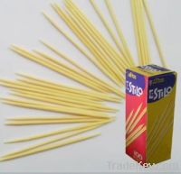 Bamboo Toothpick 100pcs of color paper box