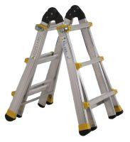 Telescopic articulated aluminium ladder