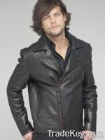 motobike leather fashion jacket for men
