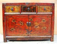 19th c. Chinese Painted & Lacquered Cabinet