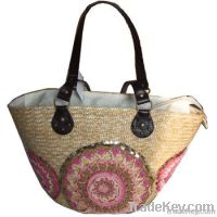 Sell Straw Bag Embroidery Logo