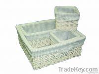 Sell White Willow Storage Basket Eco Friendly