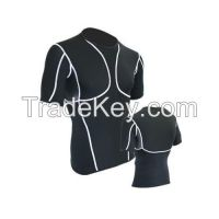 mens compression Black half sleeve shirts
