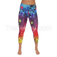 ladies sublimated yoga pants
