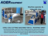 coil cutting machine - cut to length line to cut coil to sheet