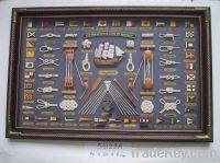 wooden nautical frame , home decoration knot frame