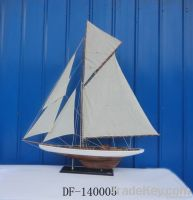wooden ship modelAntique