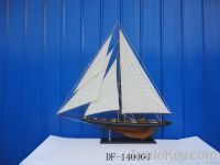 Wooden sailing ship model more creative furnishing articles