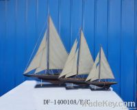 Wooden sailing ship model