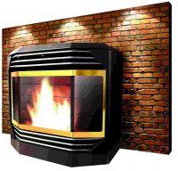 wood pellet fireplace