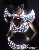 LED Robot costume, EL Wire costume, David guetta robot suit,