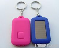 Led lighting solar keychain