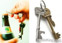 Custom metal key bottle opener keychain with engraved or embossed logo