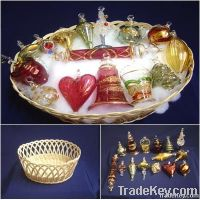 Christmas Ornaments Basket Gift