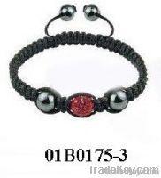 crystal woven shamballa bracelet